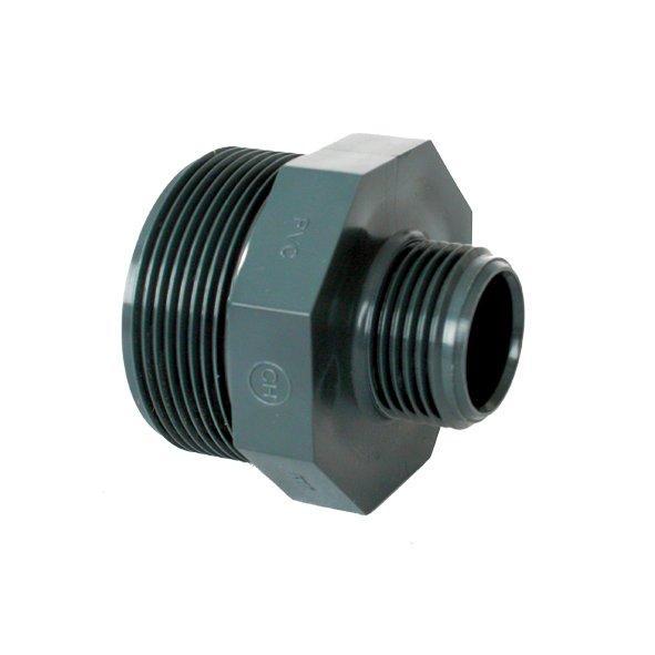 """PVC tvarovka - Dvojnipl redukovaný 2 1/2"""" x 2"""" ext."""