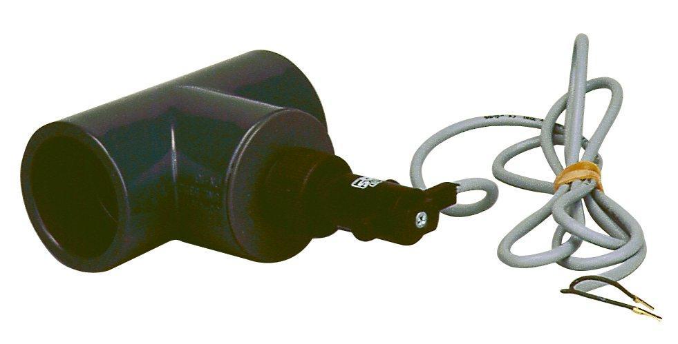 Elektrická průtok. klapka, T-kus 50mm-snímání průtoku vody v potrubí