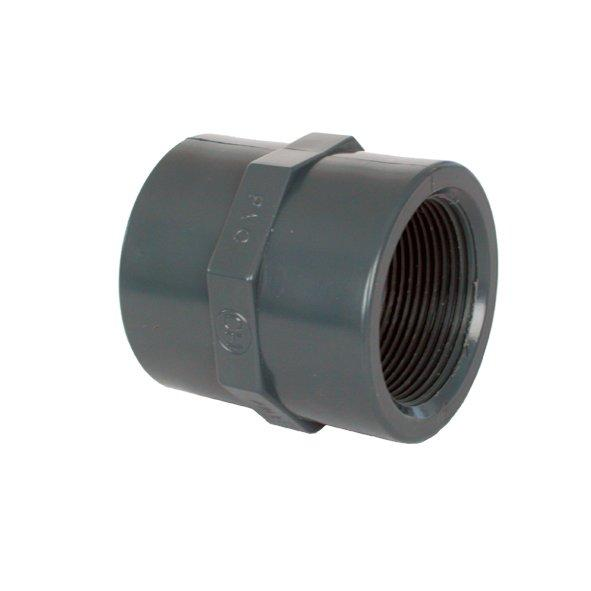 "PVC tvarovka - Mufna 50 x 1 1/2"""