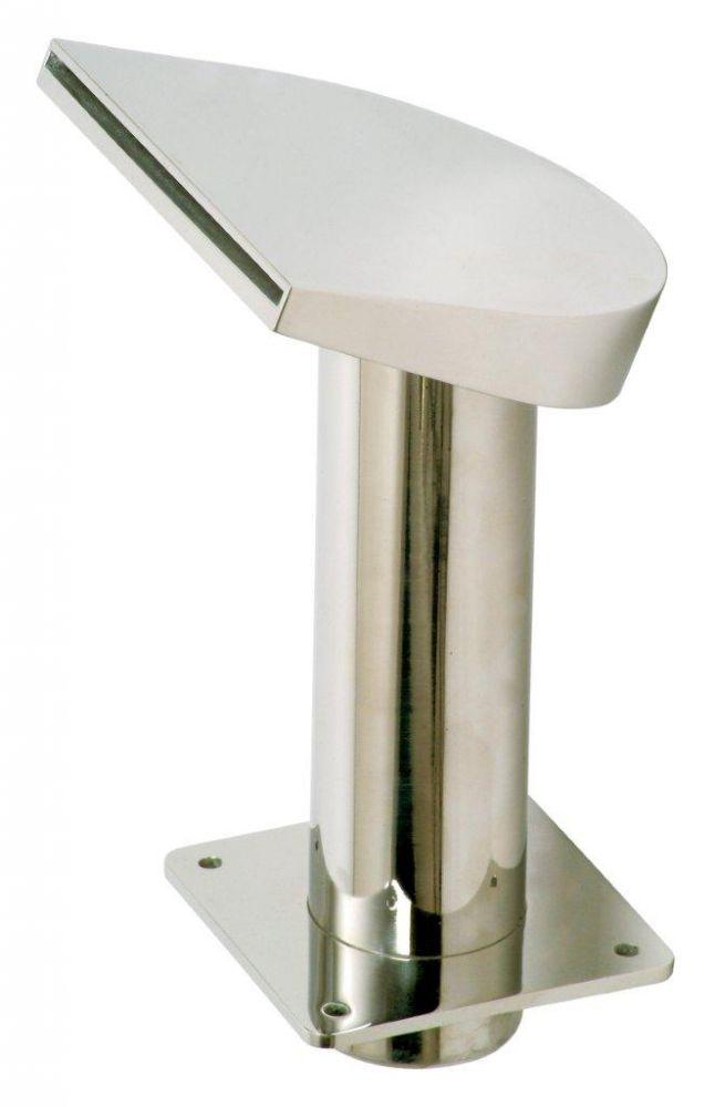 Chrlič - Půlměsíc nízký,Š200 mm,připojení 75 mm,AISI 316,proud nahoru