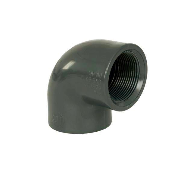 """PVC tvarovka - Úhel 90° 50 x 1 1/2"""" int."""