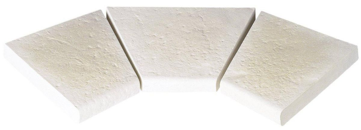 Dlažba Trianon – rohová dlaždice R 500 int., 3 kusy