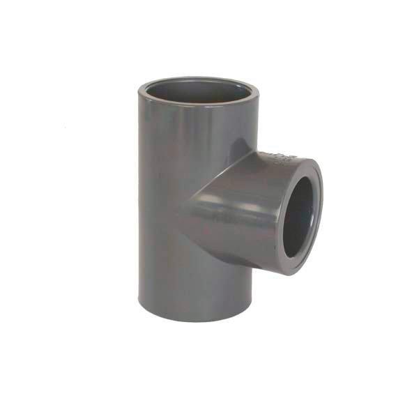 PVC tvarovka - T-kus 90° redukovaný 75 x 50 mm
