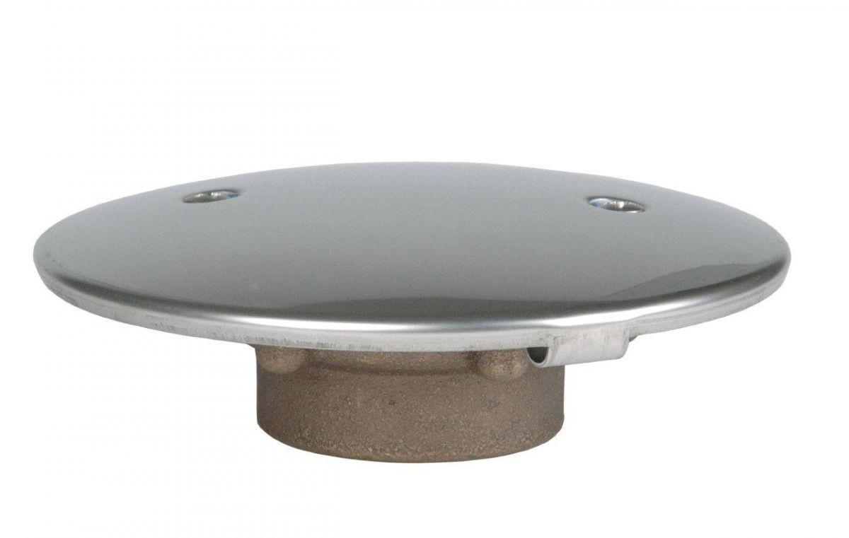 """Podlahová výpust, napojení 2"""" in, protivířivý kryt d= 168 mm."""
