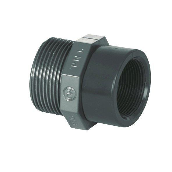 "PVC tvarovka - Redukce 1 1/2"" ext. x 3/4"" int."