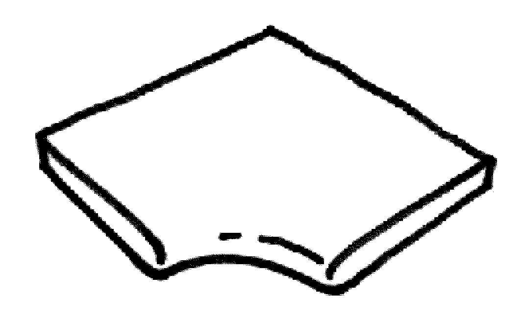 Dlažba Louisiane – rohová dlaždice, oblouk R 150 int., přírodní dřevo