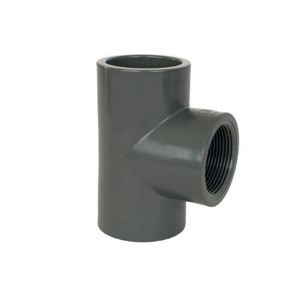 "PVC tvarovka - T-kus 90° 63 x 1 1/2"" int."