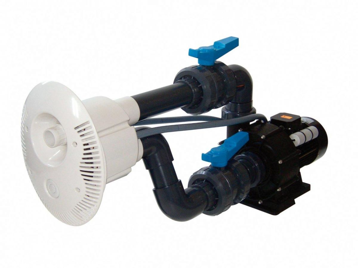 Protiproud V-JET 66 m3/h, 230 V, 2,2 kW, pro fóliové a předvyrobené baz., potrubí d= 75 mm