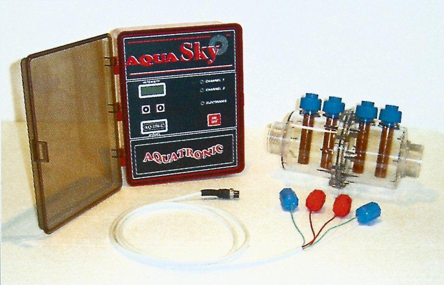 Měřící stanice Aqua-Sky bezchlor. úprava, 10-70m3,2 elektrody