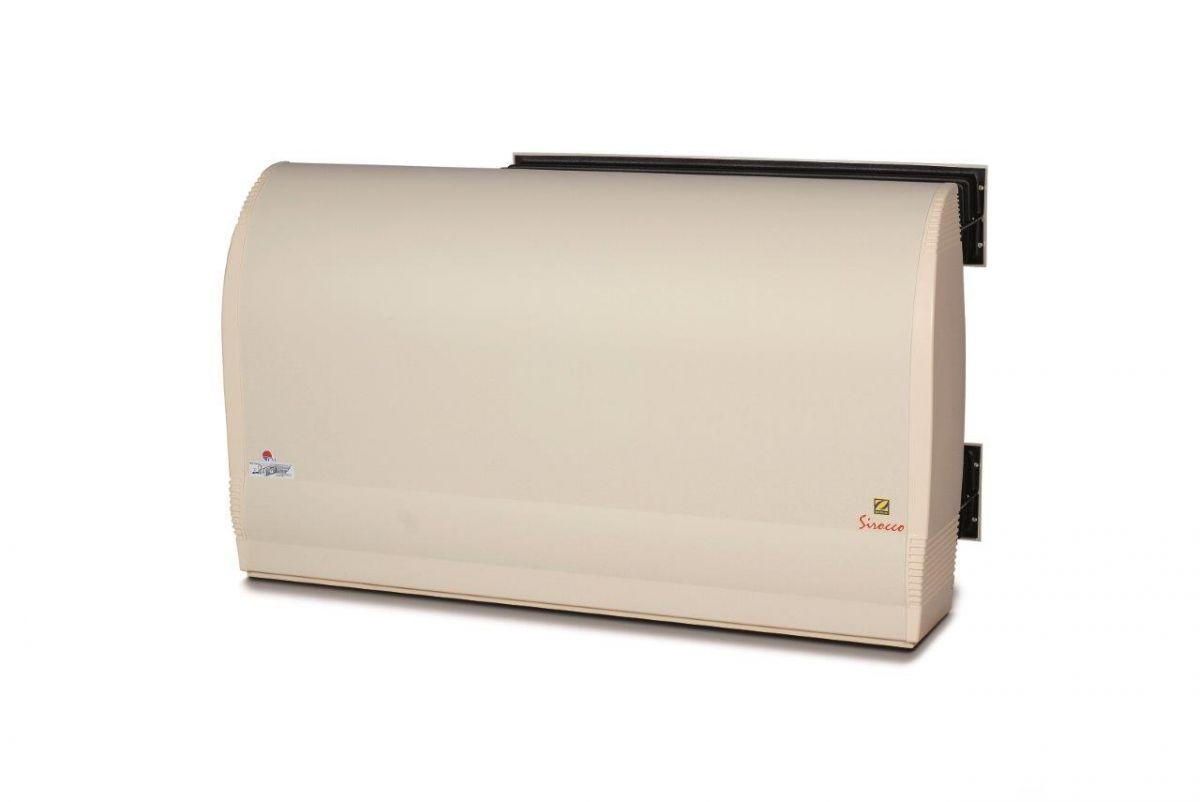 Odvlhčovač Sirocco Ambient 55 skrz zeď s Výměníkem 9 KW