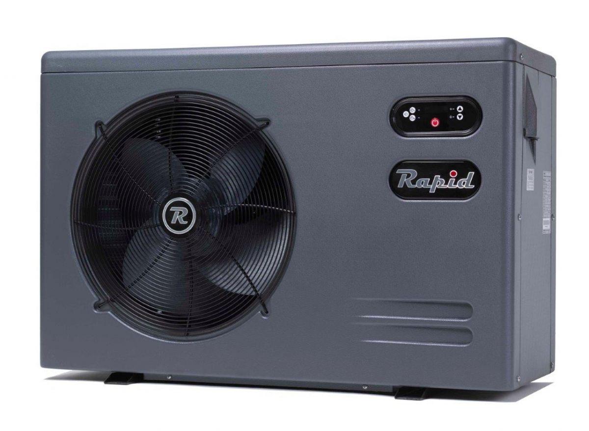 Tepelné čerpadlo RAPID RH35LC 13,5kW, R410a, 230V, titan výměník, C.O.P. >7, pro 25-45m3