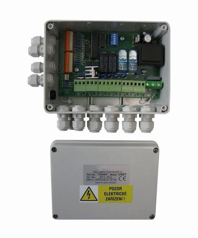 Elektronika pro Piezoelektrické tlačítko -- 5 vstupů