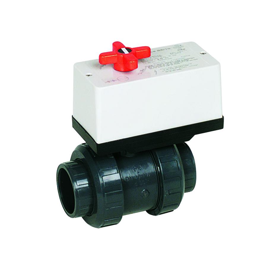 Kulový el. dvoucestný ventil 50 mm, 230 V, Praher – pro solární systémy