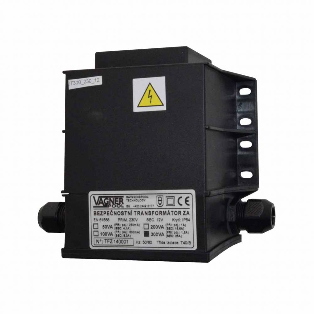 Bezpečnostní transformátor 100 W, zalitý 230 V/12 V