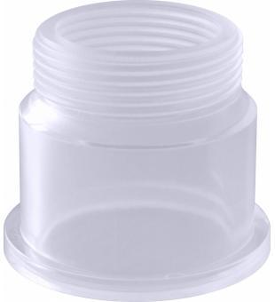 PVC tvarovka - průhledný závit. díl 1 1/2 ke šroubení