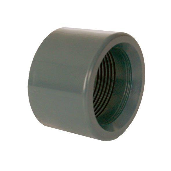 """PVC tvarovka - Redukce krátká vkládací se závitem 32 x 3/4"""" int."""