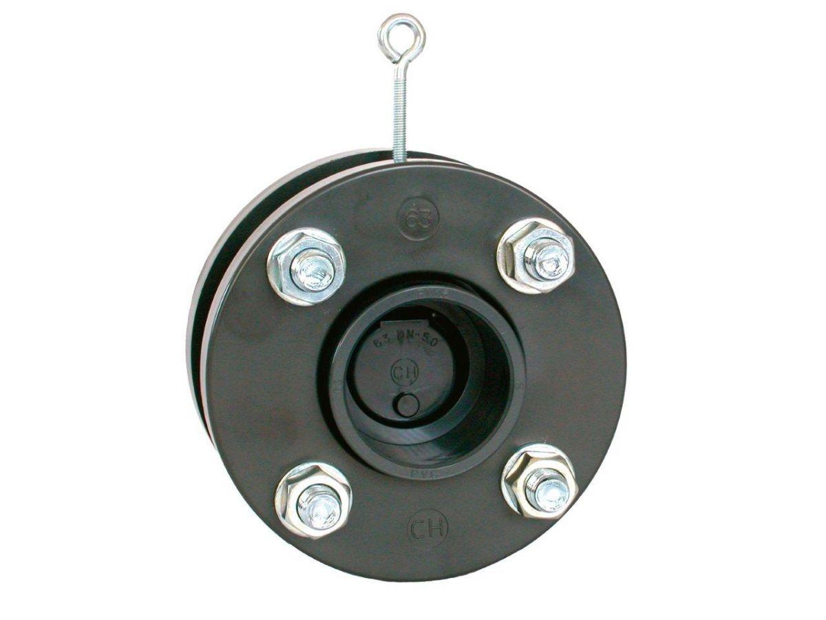 Zpětná klapka s přírubami a s manžetami 280 mm