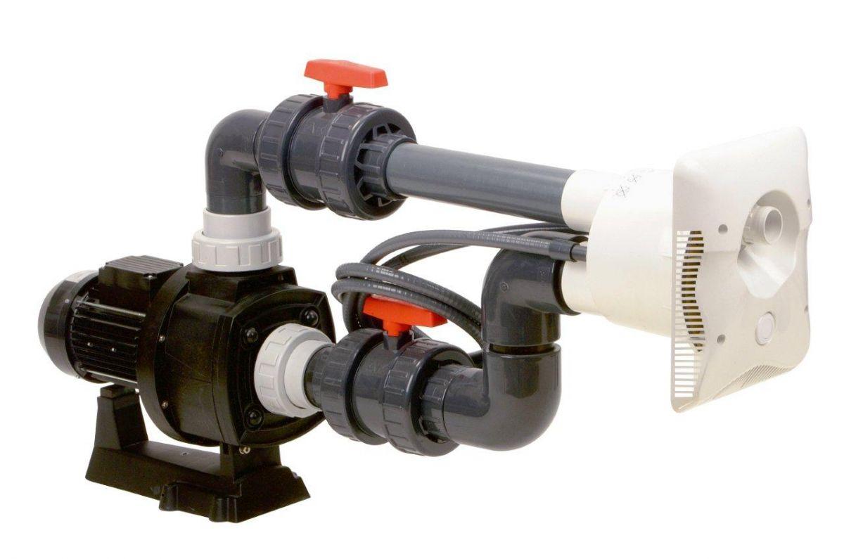 Protiproud K-JET Calipso -- 88 m3/h, 400 V, 4,7 kW, pro fólii a předvyrobené baz.