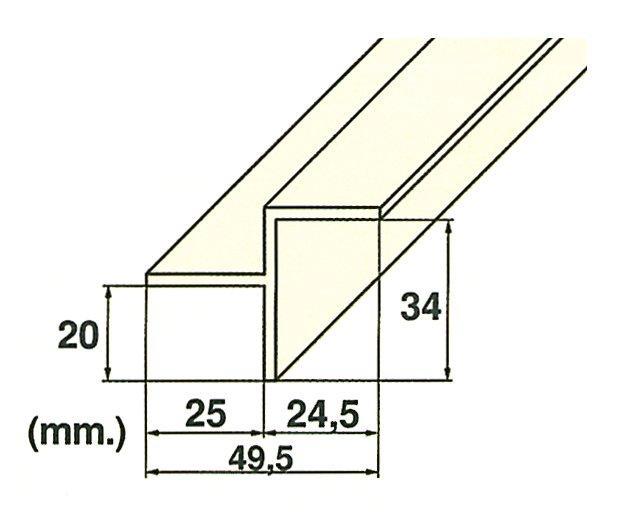 Roll rošt – hrana (MP201-LAT) přelivného žlábku, délka 2 m