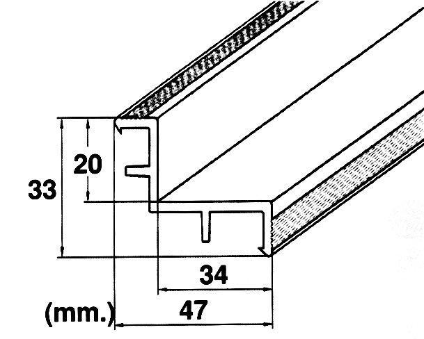 Roll rošt – hrana (MP200-LAF) přelivného žlábku, délka 2 m