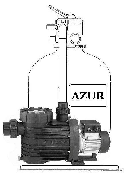 Filtrační zařízení - Azur KIT 480, 9 m3/h, 230 V (s čerpadlem Bettar Top 8)