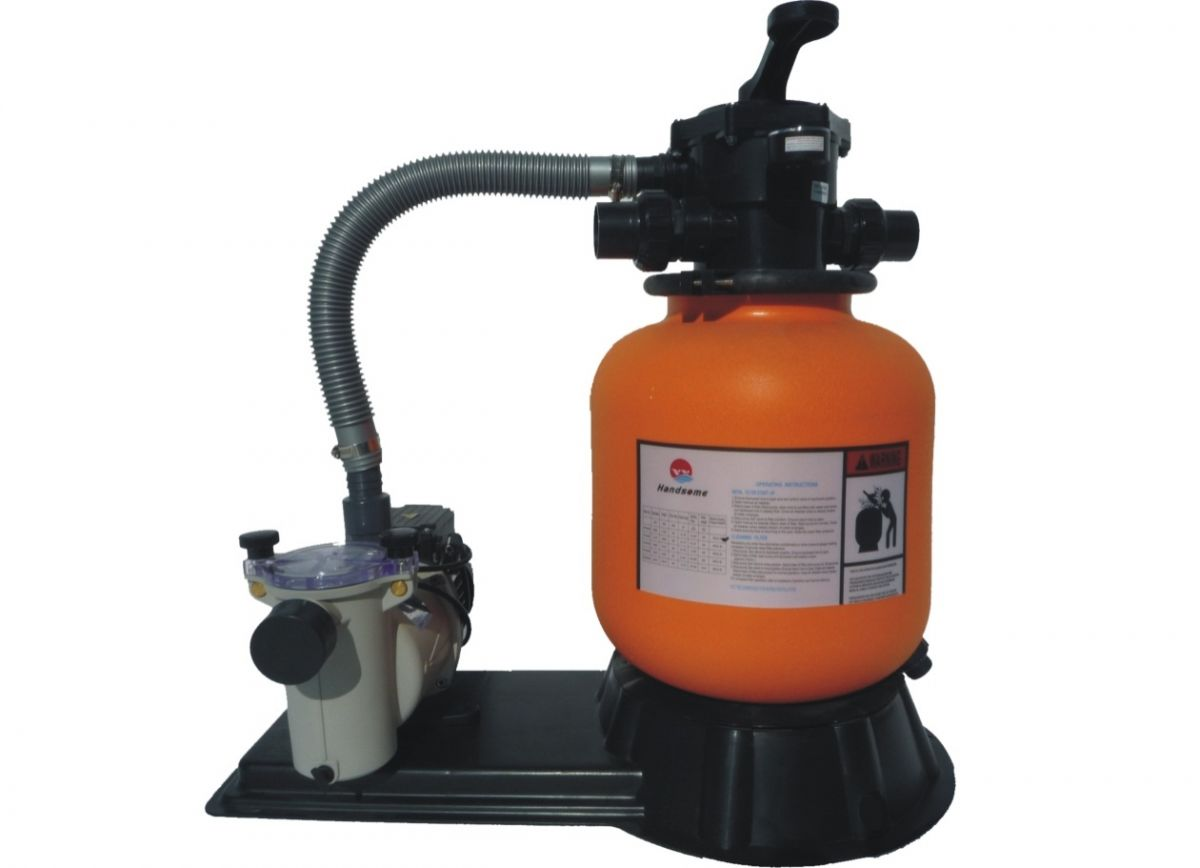 Filtrační jednotka KIT 350, 4m3/h, orange, 6-ti cest.ventil