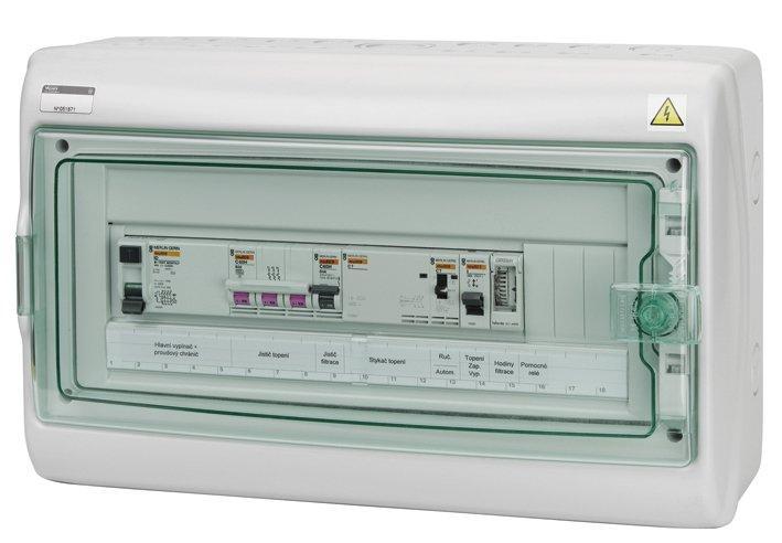 Automatické ovládání pro filtraci/topení - F3E12
