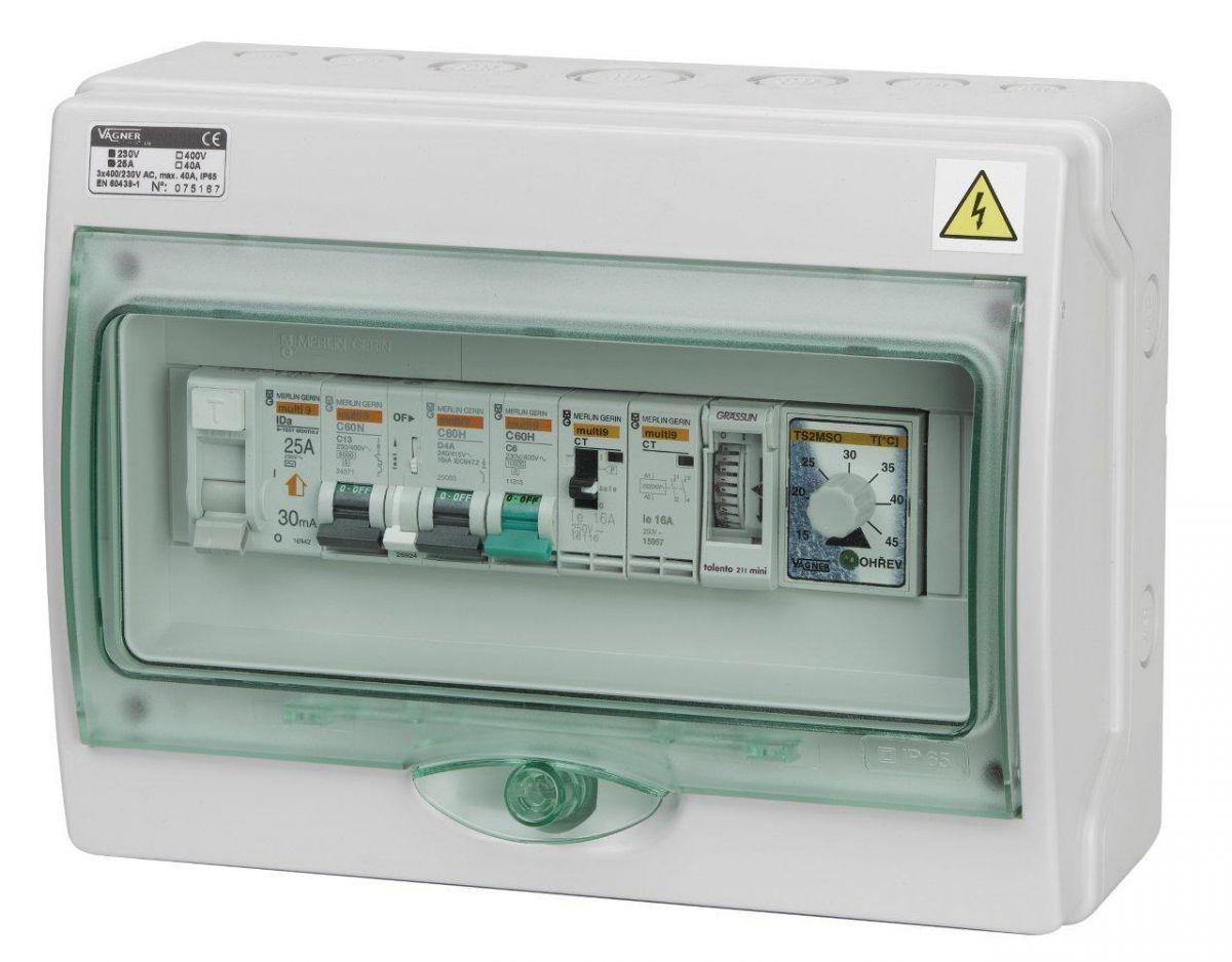 Automatické ovládání pro filtraci/výměník/světlo - F1VSDIGI