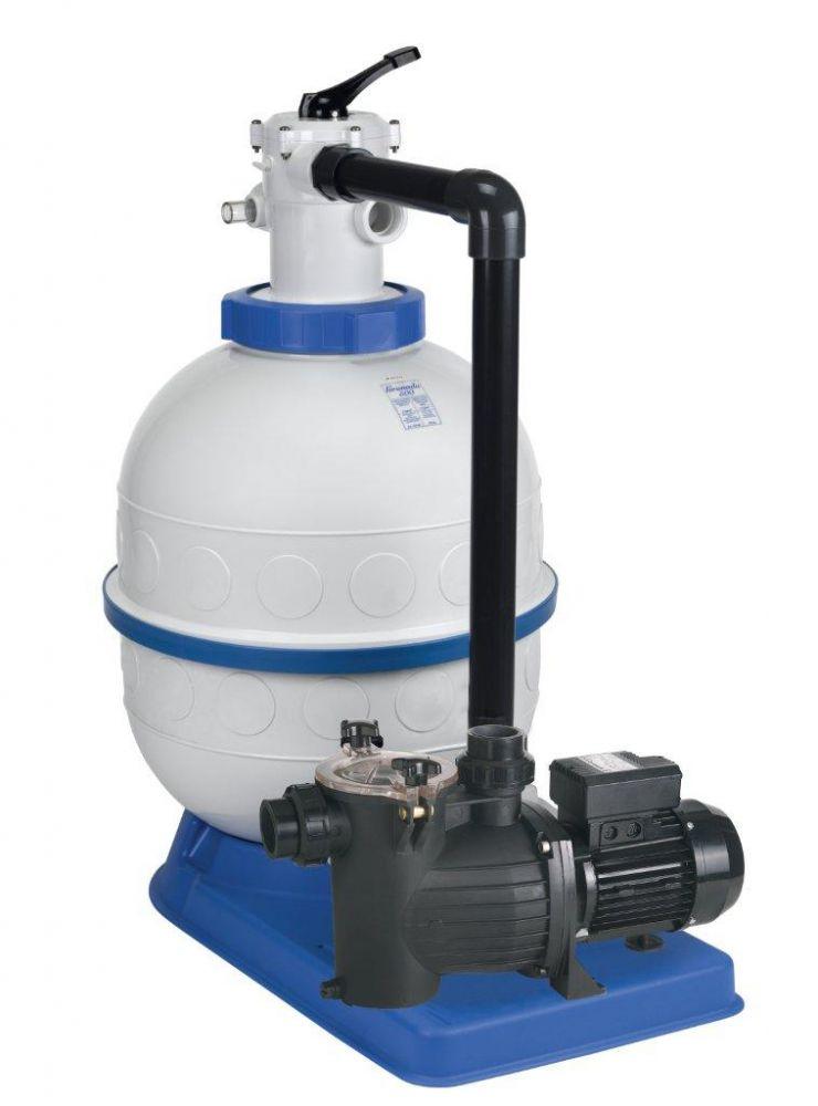 Filtrační zařízení - Granada KIT 600, 16 m3/h, 230V, 6-ti cest. top-ventil, čerp. Preva 100