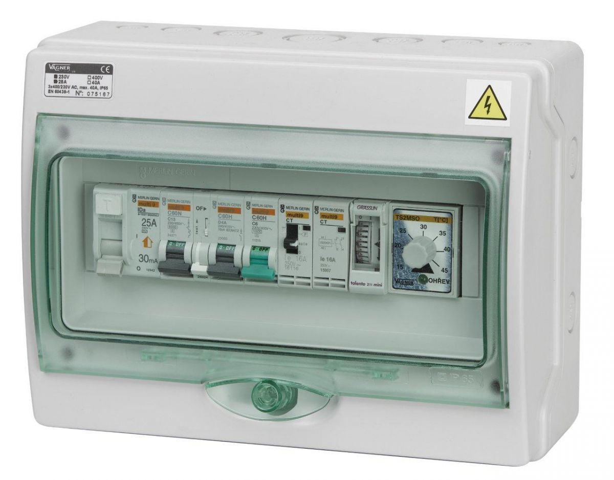 Automatické ovládání pro filtraci/výměník - F3V
