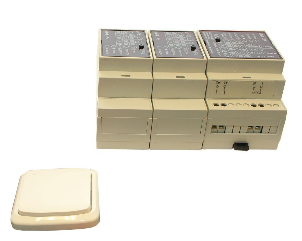 Dálkové spínání tříkanálové (tj. dvou zařízení) pevný vysílač
